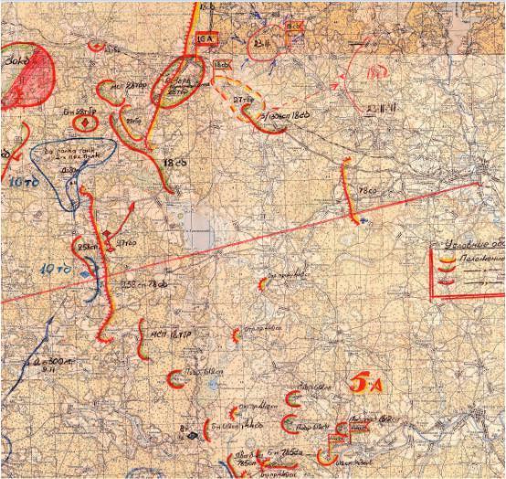 КАРТА БОЕВЫХ ДЕЙСТВИЙ 78 СД. Ноябрь 1941 г.