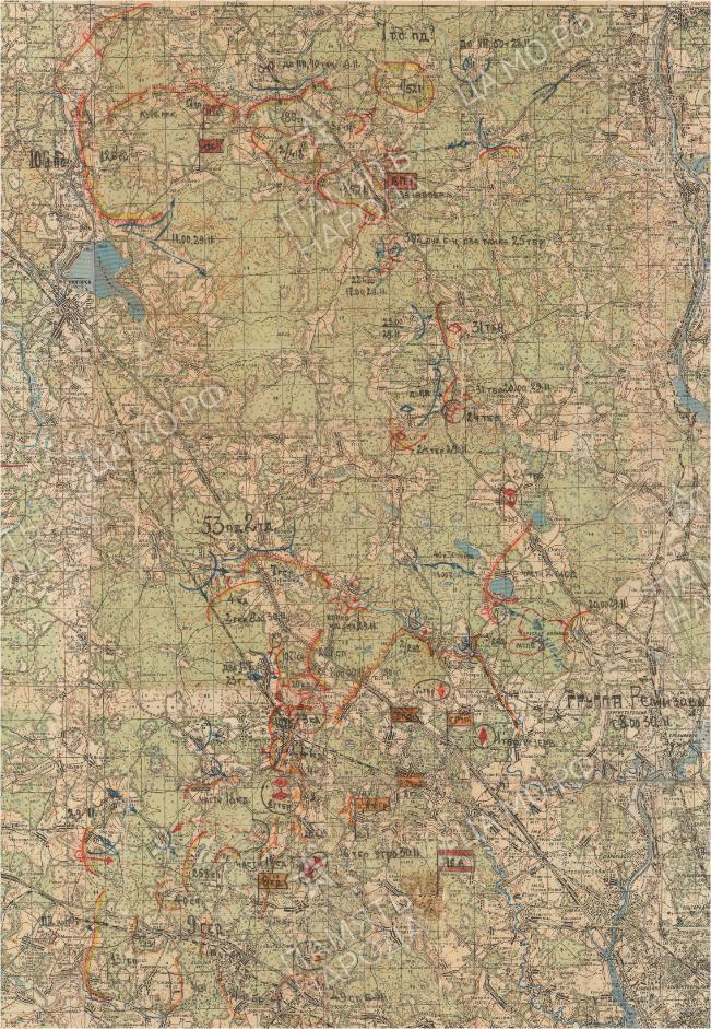 Карты военных лет 16 Армии