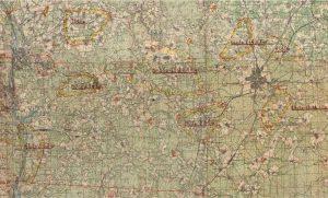Карта положения войск 1 Уд. А