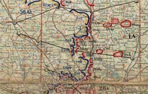 фрагмент карты положения фронта на 6 декабря 1941