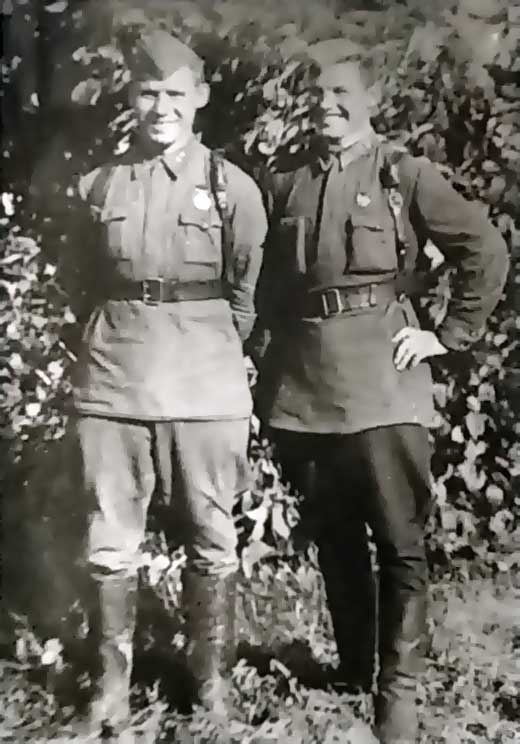 Щукин В.Я. и Сайганов В.Н в годы войны