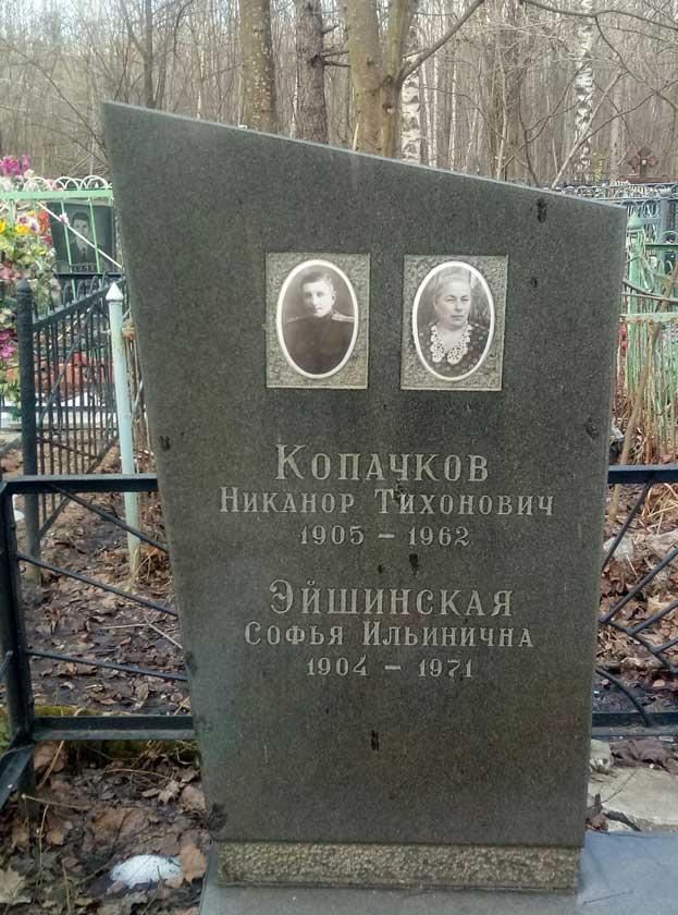 Могила С.И. Эйшинской на Луговском кладбище