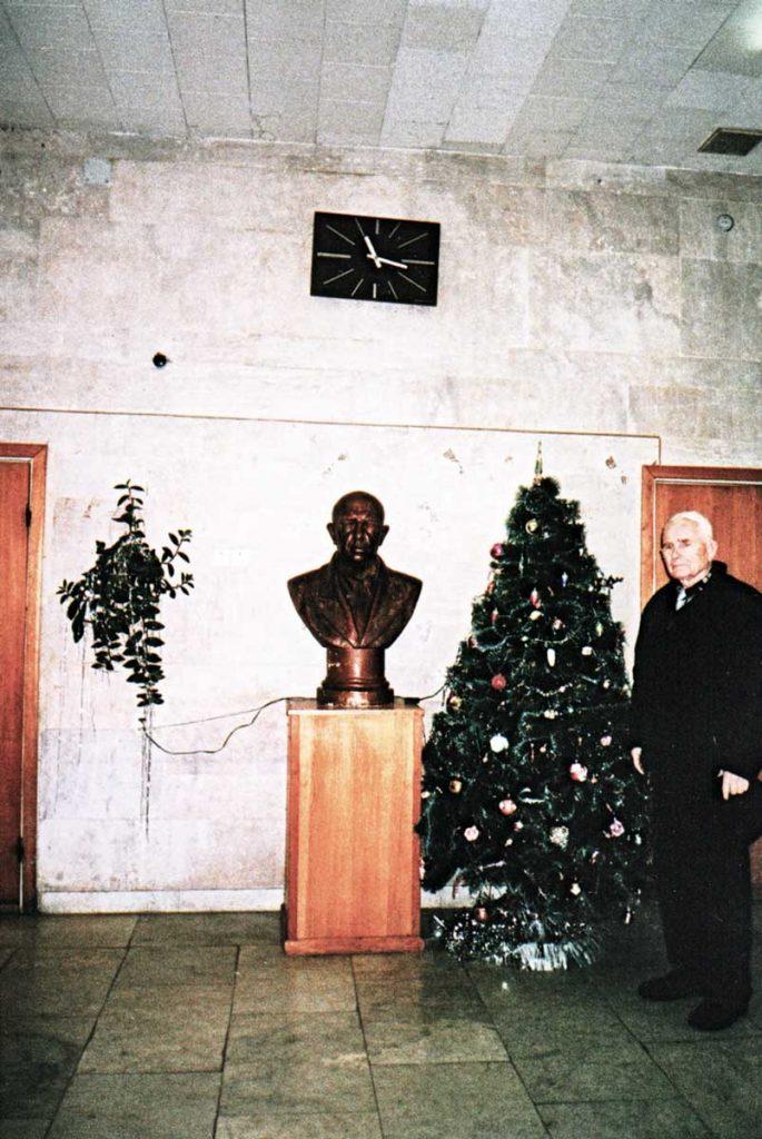 М. Ф. Щербаков в музее ВНИИ кормов