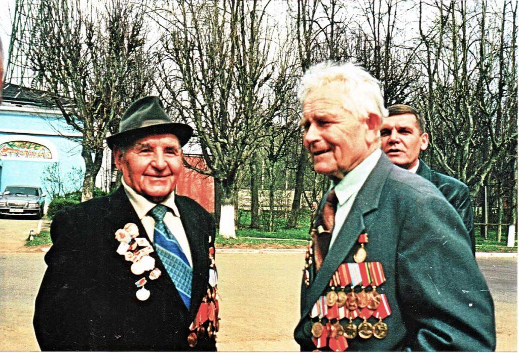 В.Ф. Ковалёв и М.Ф. Щербаков (Луговая, 9 мая)
