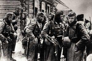 Подмосковье, 1941 г. Радости на лицах оккупантов отчего-то не наблюдается))