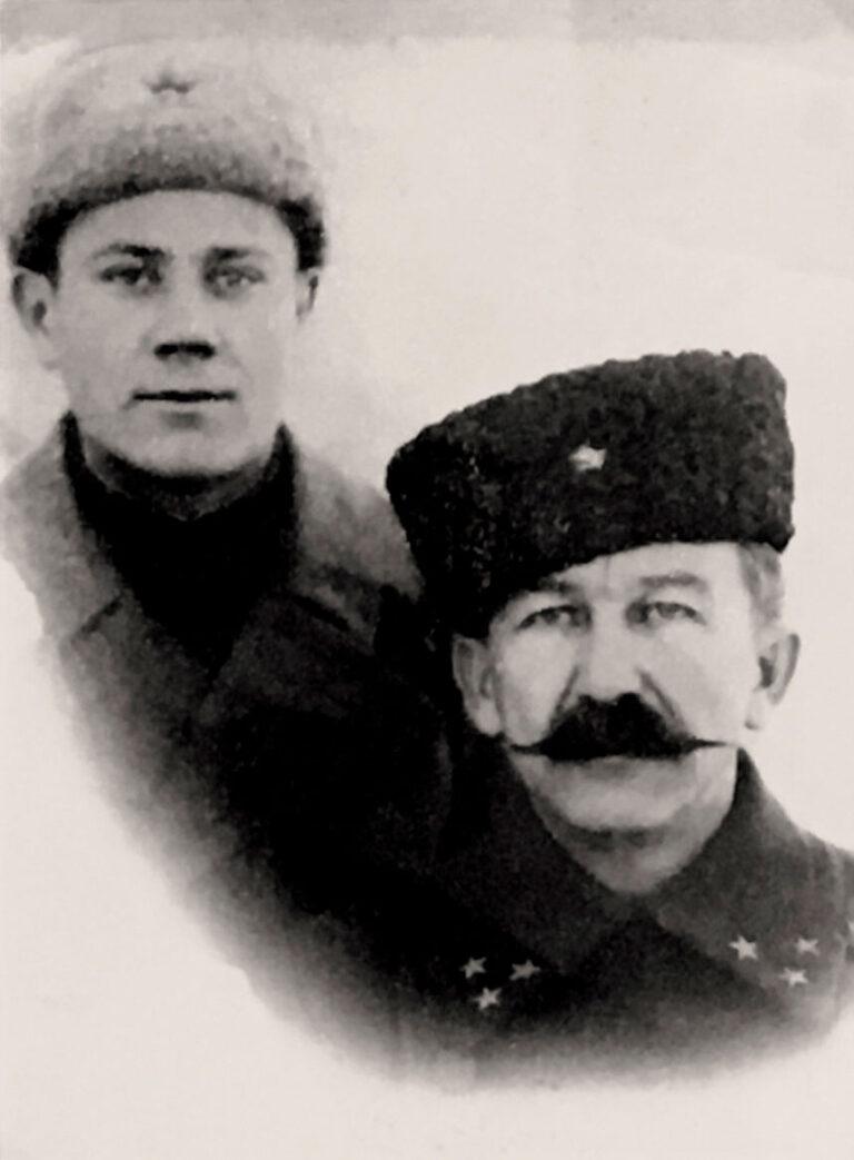 Генерал Белов П.А. и его адъютант Бобылев Д.Н.