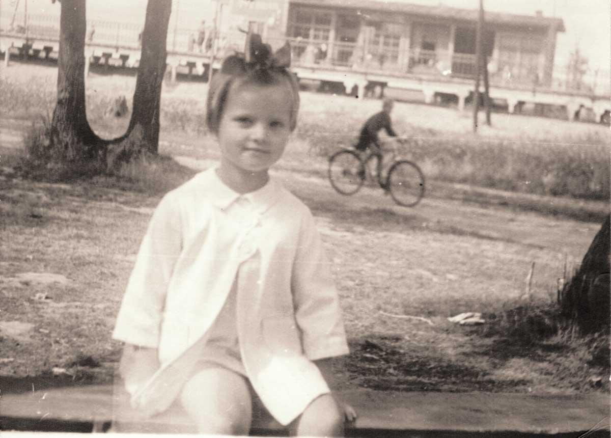 Станция Луговая. 1955 год